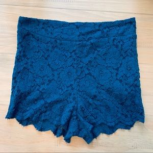 🌻SALE Free People | High Rise Blue Lace Shorts